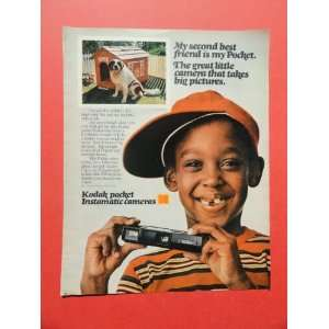 print ad(dog/dog house)original magazine Print Art.
