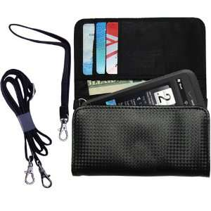 Black Purse Hand Bag Case for the HTC Imagio with both a