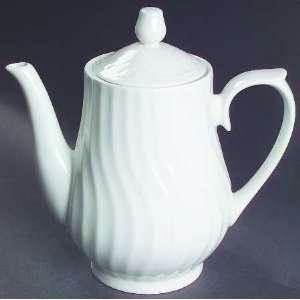 Lynns China Imperial Tea Pot & Lid, Fine China Dinnerware