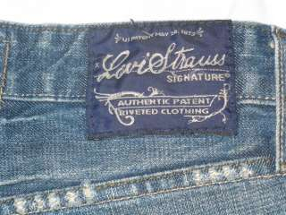 Levi Strauss Distressed Signature Blue Jeans 34x34 Boot
