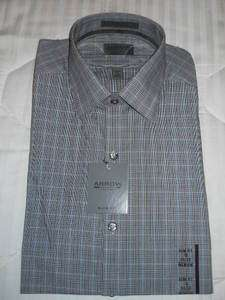 Arrow Slim Fit Dress ShirtGray W/Black/White/Blue.NWT