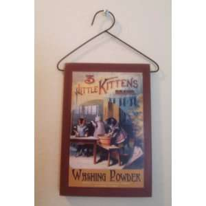 Laundry Room 3 Little Kittens Vintage Laundry Sign NEW