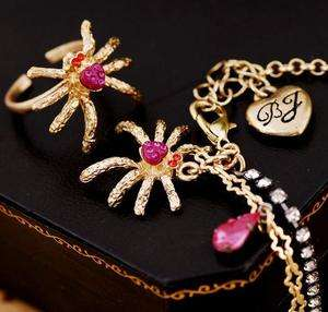 Cute Fashion Crystal Spider Anklet & Toe Ring Set 131