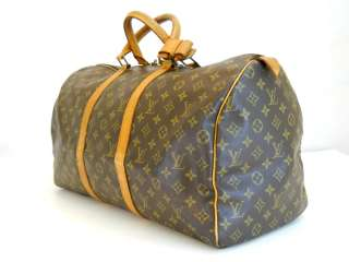 Louis Vuitton Monogram Duffle/Gym Bag Keepall 50 Authentic Free