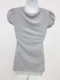 You are bidding on a LA MADE Gray Cap Sleeve Scoop Neck T Shirt Top