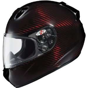 Transtone Carbon Full Face Motorcycle Helmet X Large  Red Automotive