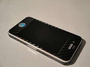 iPhone 4 3M 3D Black Carbon Fibre Skin sticker