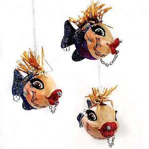 Katherines Collection Tattoo Kissing Fish Ornament Set of