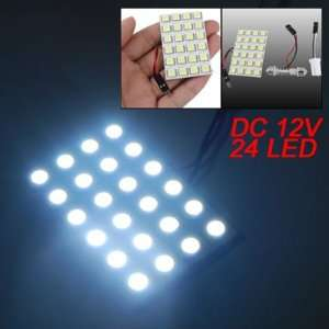 Amico Car White 5050 SMD 24 LED Dome Light Panel Bulb T10