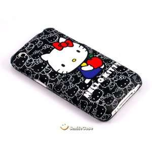 [SC] Hello Kitty Black Hard Plastic Full Cover Case for