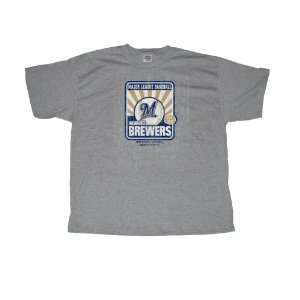 Stitches Athletic Gear Milwaukee Brewers Adult T Shirt