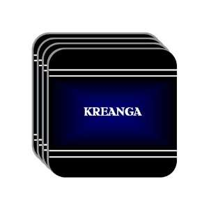 Personal Name Gift   KREANGA Set of 4 Mini Mousepad Coasters (black