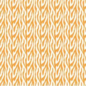 ZEBRA STRIPES PATTERN Orange & White CRAFT VINYL Sheets 6x6 x3 Great