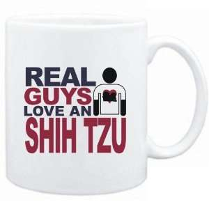 Mug White  Real guys love a Shih Tzu  Dogs