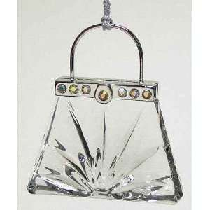 the Town Handbag Crystal Christmas Ornament New in Box