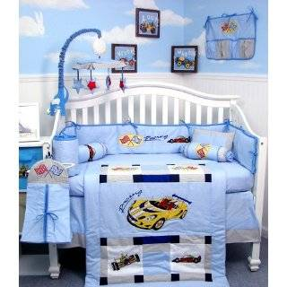 Railroad Train Baby Boy Crib Nursery Bedding Set 13 pcs