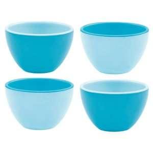 Zak Designs Tonal Blues 4 Piece Mini Bowl Set Kitchen