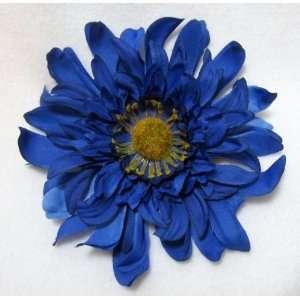Large Blue Crazy Daisy Flower Hair Clip