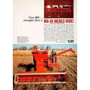 1967 Ad Case Farming Equipmen Machinery Agriculure