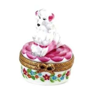 Cute French Poodle French Limoges Box