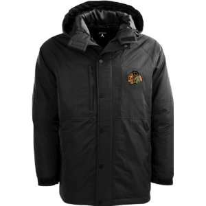 Chicago Blackhawks Black Trek Full Zip Hooded Jacket