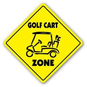 GOLF CART ZONE Sign novelty gift sport golfer Patio, Lawn & Garden
