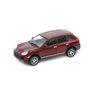 118th Scale Porsche Cayenne Turbo in Burgundy Toys