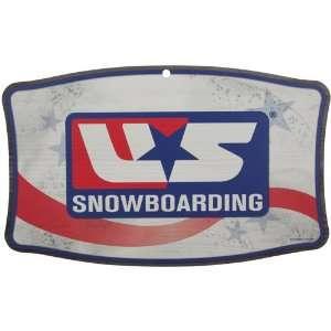 U.S. Snowboarding 11 x 17 Wood Sign: Sports & Outdoors