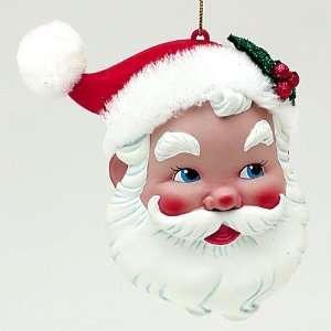 Fun Retro Vintage Santa Claus Head Christmas Ornament