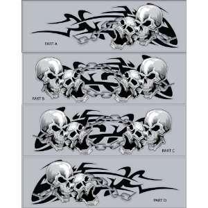 sticker skull kit tribal Airbrush picture Helmet Wallpaper Design Art Tattoo Skull Car Picture