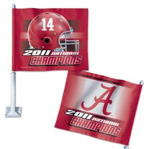 Alabama Crimson Tide 2011 BCS National Champions Car Flag