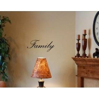 Family Metal Wall Word Art, Black Wire Hanging