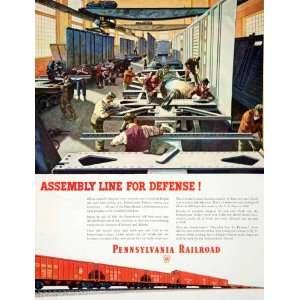 1951 Ad Pennsylvania Railroad Railway U S Navy Locomotive Train