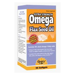 COUNTRY LIFE EXTRA STRENGTH OMEGA FLAX SEED OIL 90 GELS
