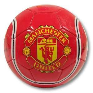 MANCHESTER UNITED OFFICIAL LOGO SIGNATURE SOCCER BALL