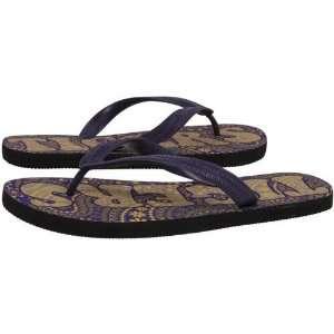 LSU Tigers Ladies Purple Gold Vintage Paisley Flip Flops
