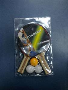 player set table tennis ping pong racket balls NEW