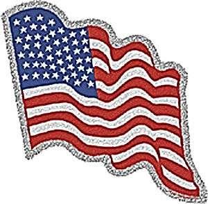 United States Flag Glitter Sticker USA US