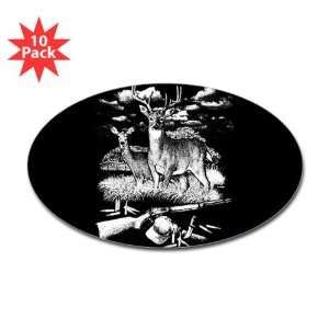 Oval) (10 Pack) Deer Hunting Buck Doe Rifle and Hat: Everything Else
