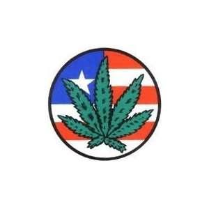 NSI   Mini Marijuana Pot Leaf   Sticker / Decal