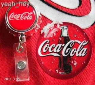 Badge Holder Coca Cola Bottle Cap Shaped Extends 3 feet