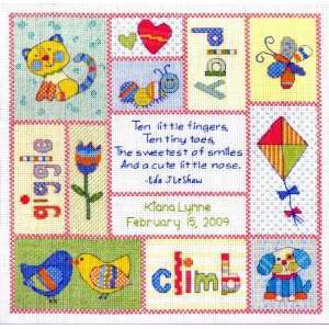 Kit Patchwork Baby Birth Record From Baby Hugs: Arts, Crafts & Sewing