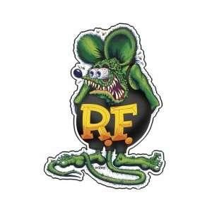 Rat Fink Green Black T shirt Embossed Metal Tin Sign Licensed Ed Roth