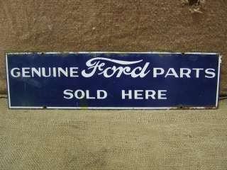 Ford Parts Sign  Antique Old RARE Car Truck Tractor Dealer Store 6495