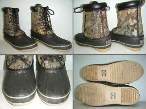 GAME WINNER Hunting Boots Size 8 Mens Used