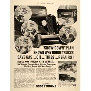 1934 Ad Dodge Trucks Commercial Panel Chrysler Motors   Original Print