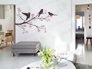 Tree Branch Bird Nursery Wall Decor Decal Vinyl Sticker
