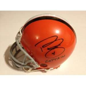Browns PHIL DAWSON Signed Autographed Mini Helmet INSC. CAPTAIN COA