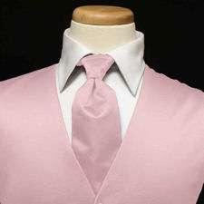 Premiere Satin Vest & Tie (36 Colors)    Pink