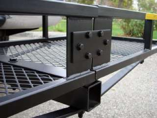 FOLDING CARGO CARRIER RACK BASKET TRUCK TRAILER RECEIVER HITCH MOUNTED